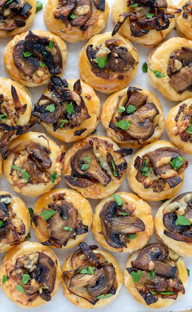 Cheesy Mushroom Puff Pastry Bites | The Law Students Wife