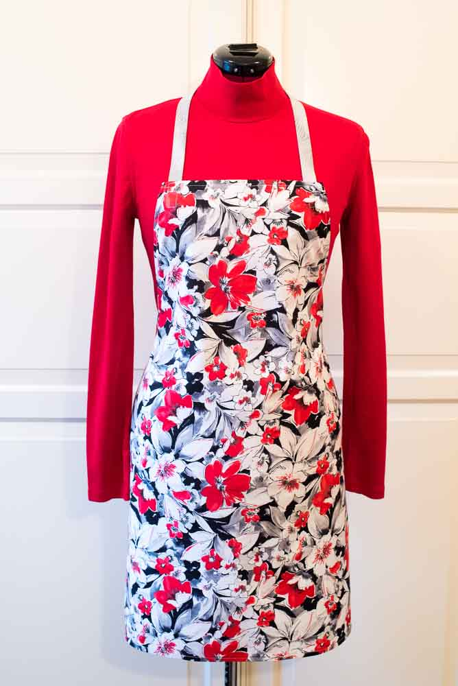 Red Floral Apron | Inspiration Kitchen