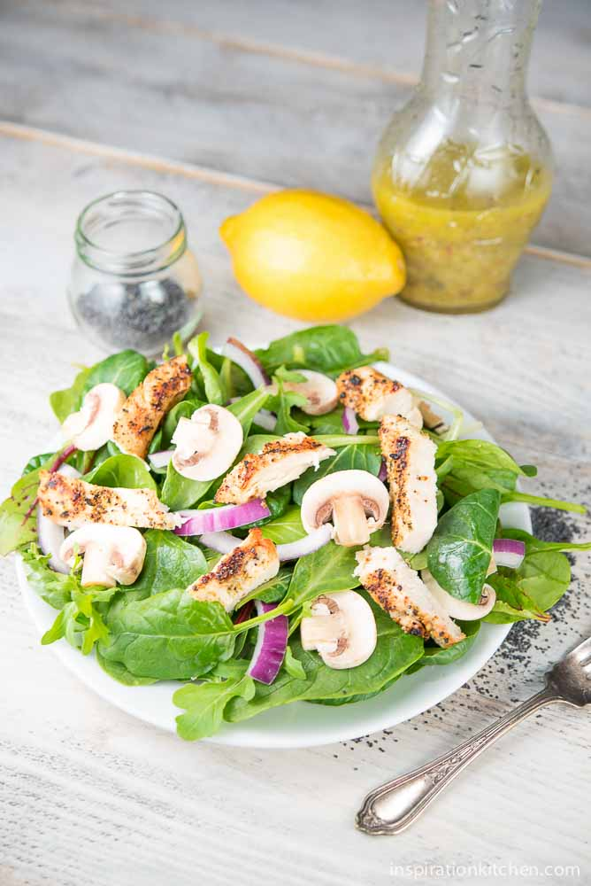 Grilled Chicken & Spinach Salad | Inspiration Kitchen