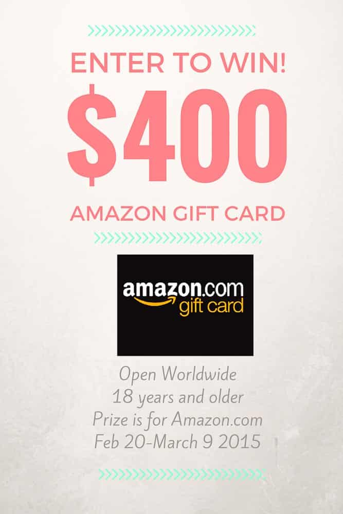 $400 Amazon Gift Card Giveaway | Inspiration Kitchen