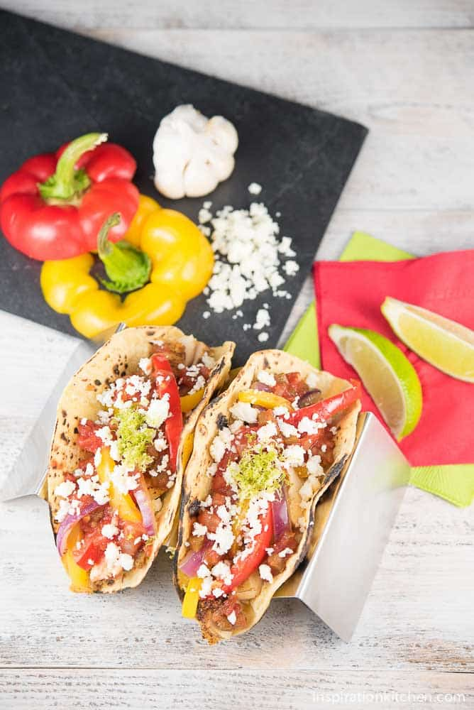 Chicken Fajita Tacos with Cotija Cheese 02 | Inspiration Kitchen