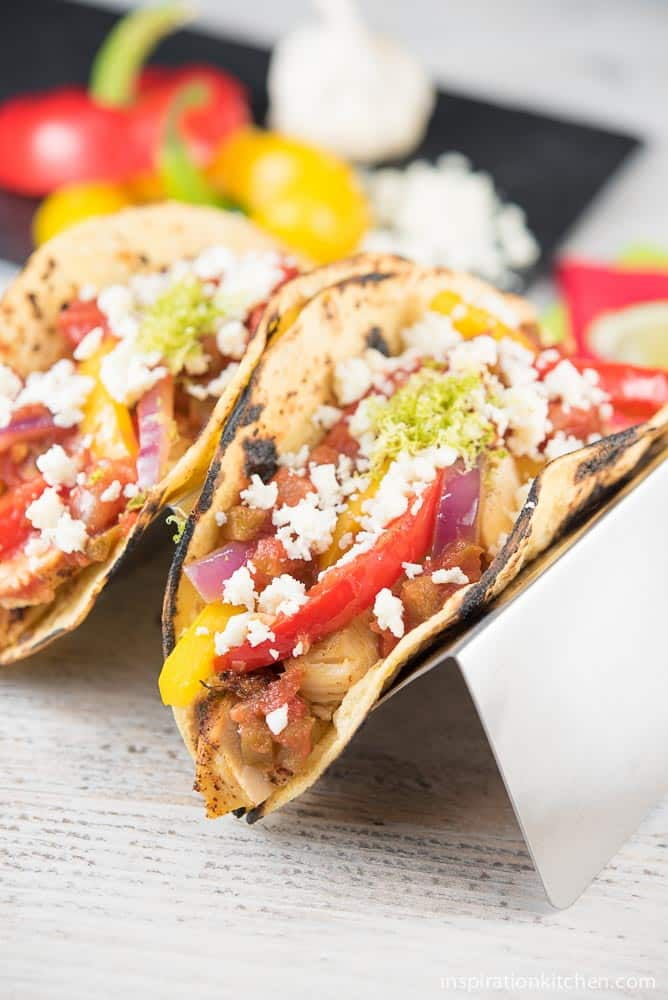 Chicken Fajita Tacos with Cotija Cheese 03 | Inspiration Kitchen