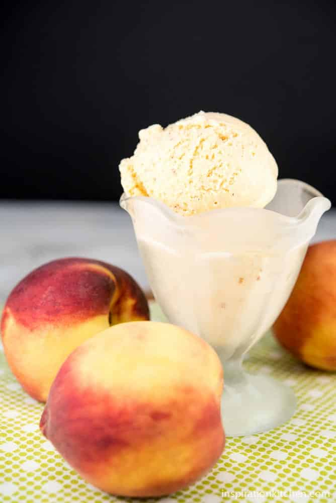 Peach Ice Cream | Inspiration Kitchen