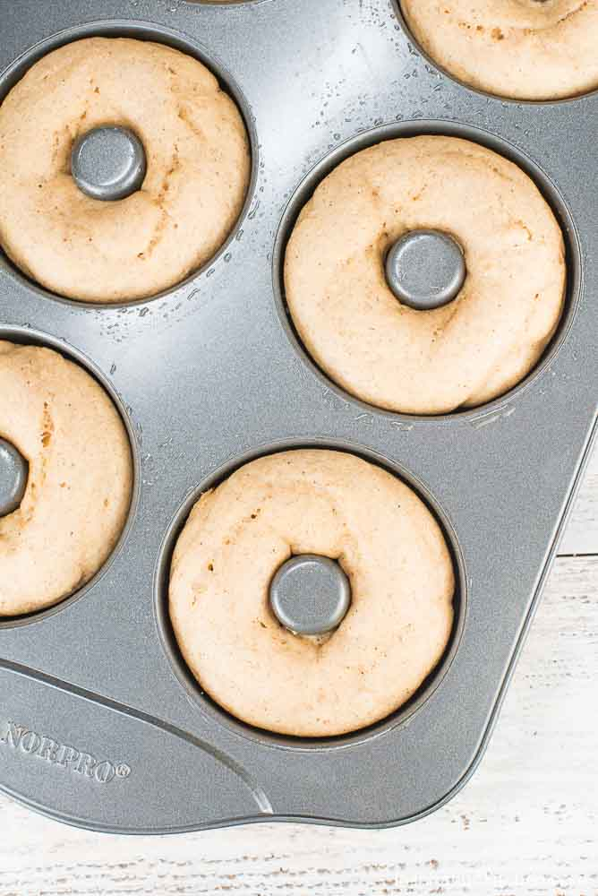 Baked Coffee Glazed Donuts With Coffee Candied Pecans   Inspiration Kitchen