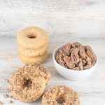 Baked Coffee Glazed Donuts with Coffee Candied Pecans