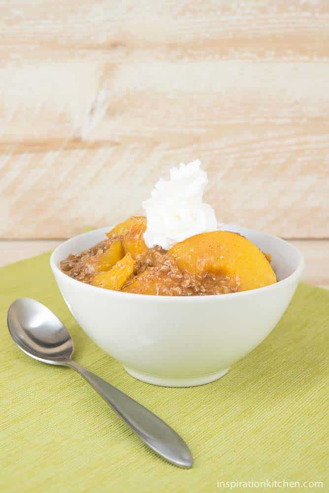 Easy Peach Cobbler | Inspiration Kitchen