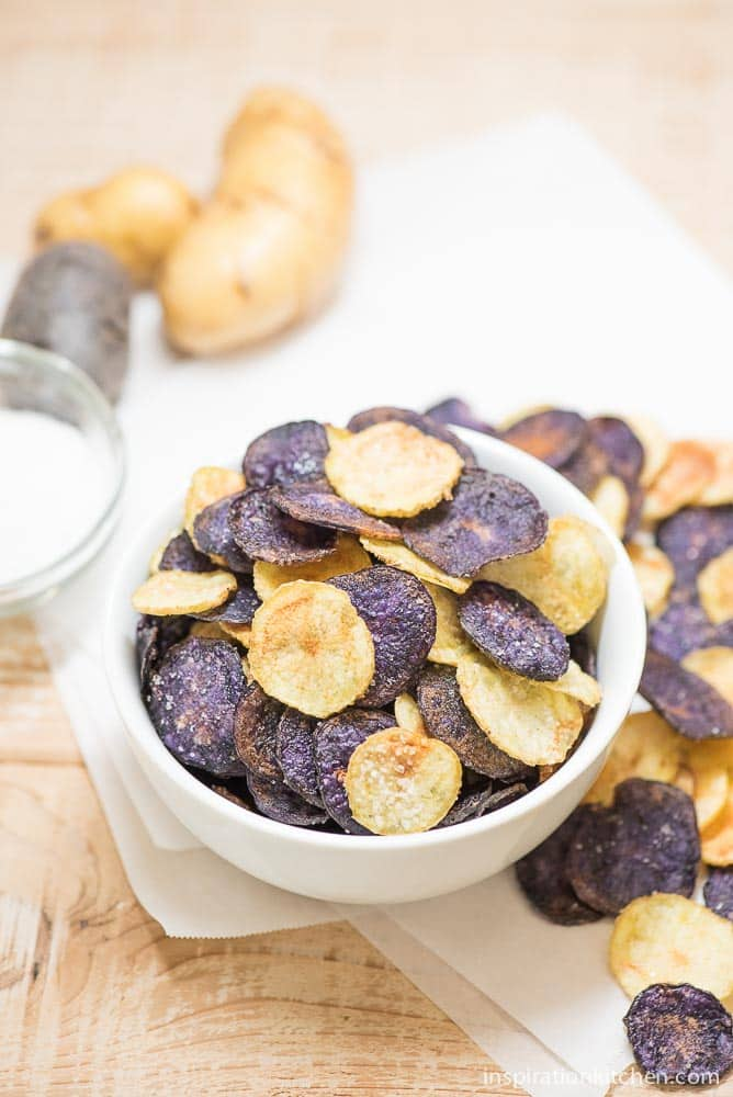 Easy Microwave Potato Chips | Inspiration Kitchen