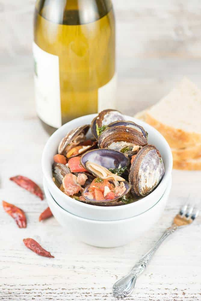 Spicy Clam Kale Appetizer | Inspiration Kitchen