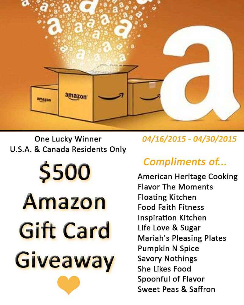 $500 Amazon Gift Card Giveaway | Inspiration Kitchen