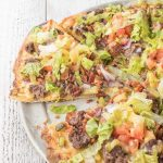 Easy Bacon Cheeseburger Pizza