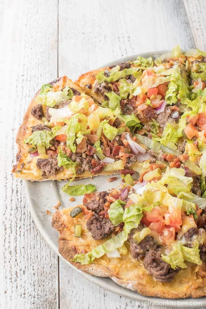 Bacon Cheeseburger Pizza | Inspiration Kitchen