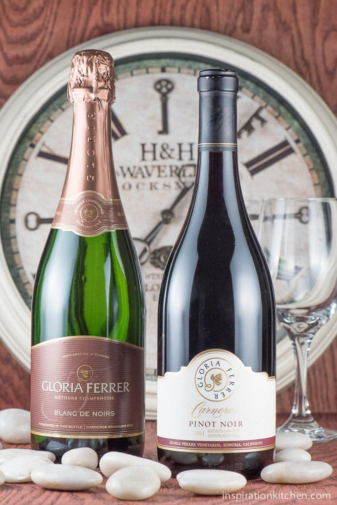 Gloria Ferrer Blanc De Noirs and Pinot Noir | Inspiration Kitchen