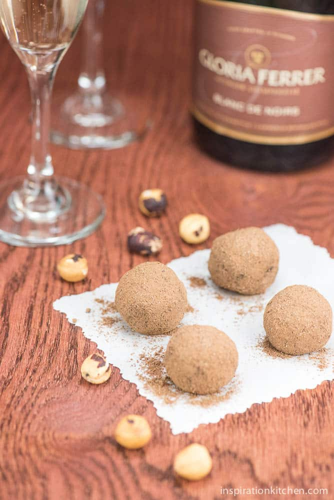 Hazelnut Praline Chocolate Truffles | Inspiration Kitchen