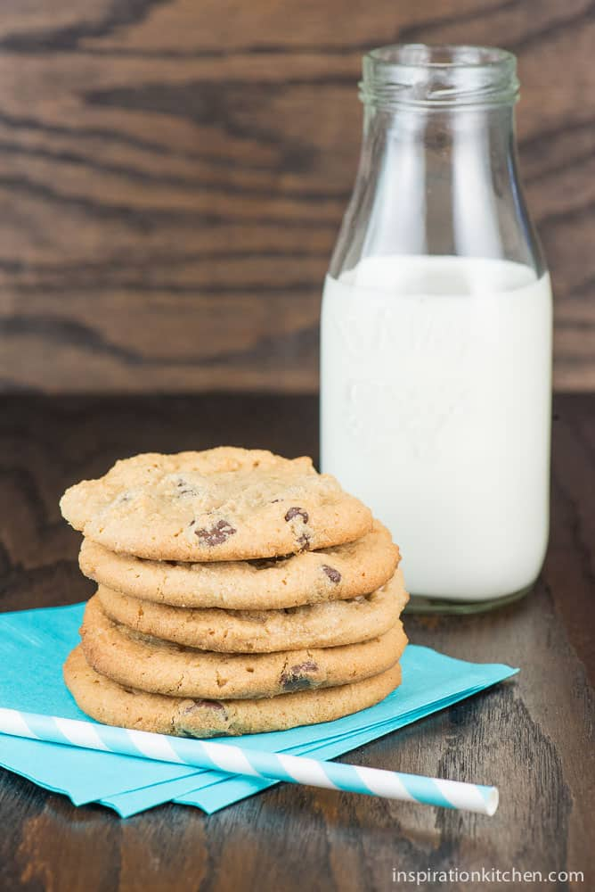 Peanut Butter Chocolate Chip Cookies | Inspiration Kitchen