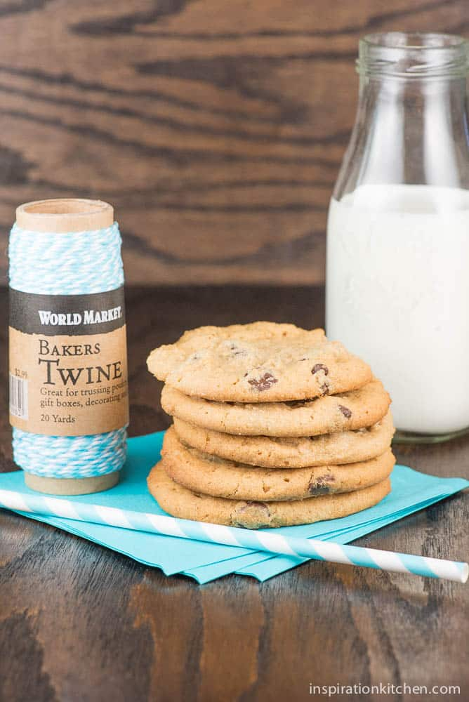 Peanut Butter Chocolate Chip Cookies   Inspiration Kitchen