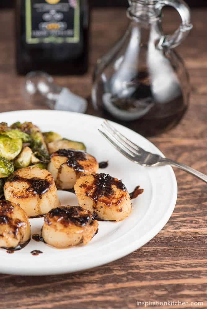 Seared Scallops with Balsamic Reduction | Inspiration Kitchen