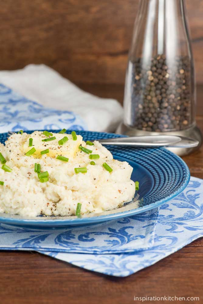 Whole Grain Dijon Mustard Mashed Cauliflower | Inspiration Kitchen