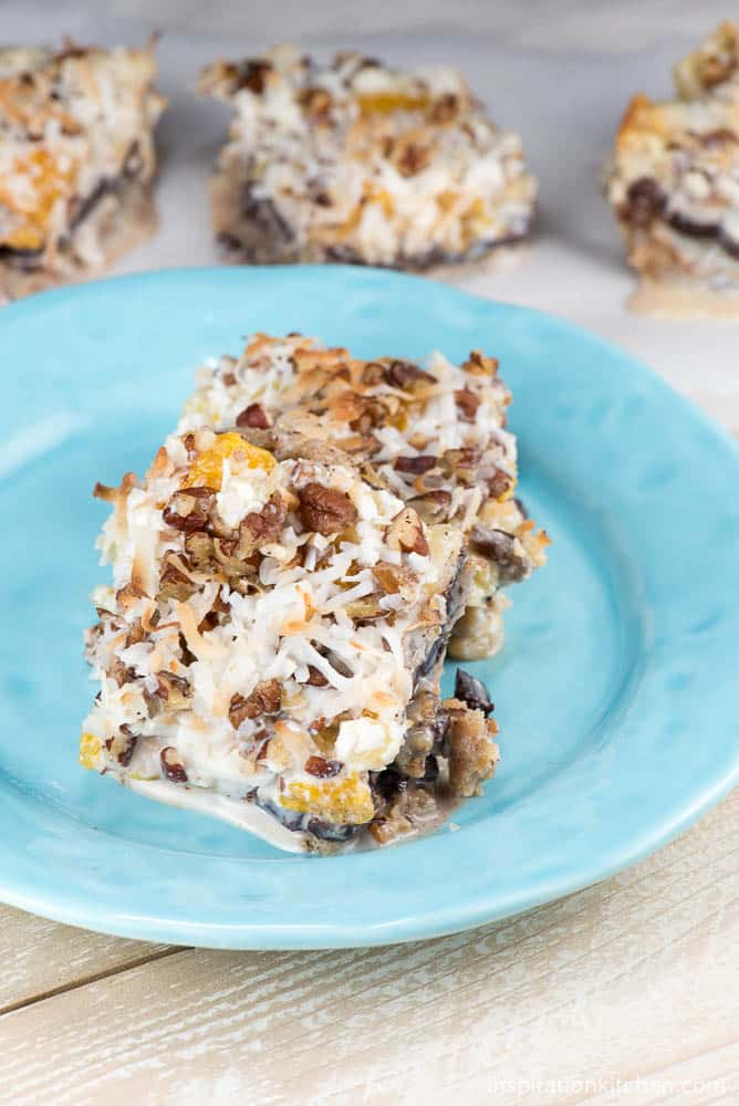 Chocolate Coconut Fruit Bars Collage | Inspiration Kitchen