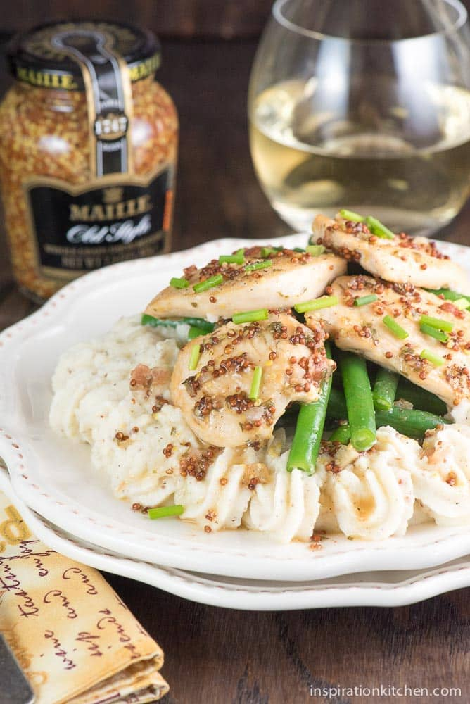 Dijon Mustard White Wine Chicken | Inspiration Kitchen
