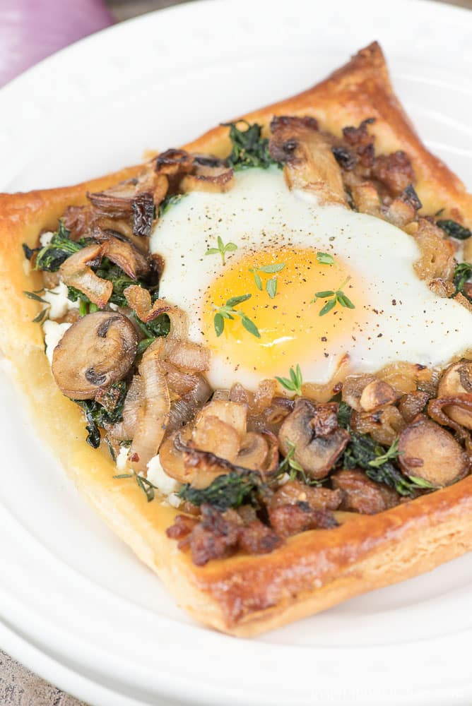 Sausage Mushroom Egg Galette | Inspiration Kitchen
