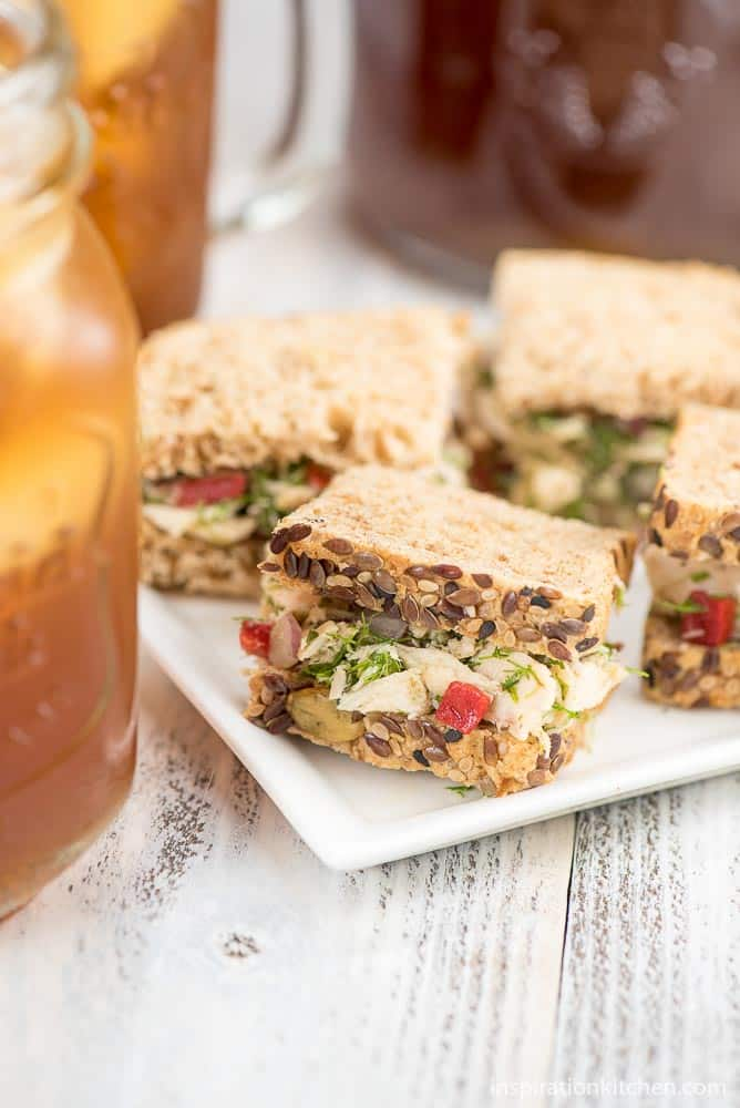 Tuscan Tuna Tea Sandwiches