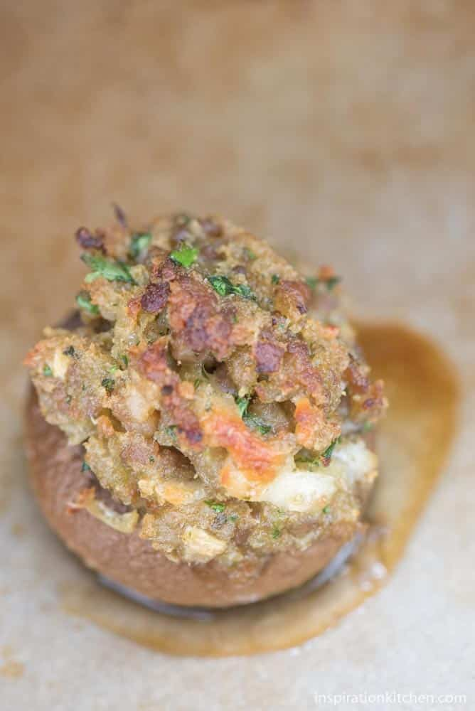 Spicy Stuffed Mushrooms | Inspiration Kitchen