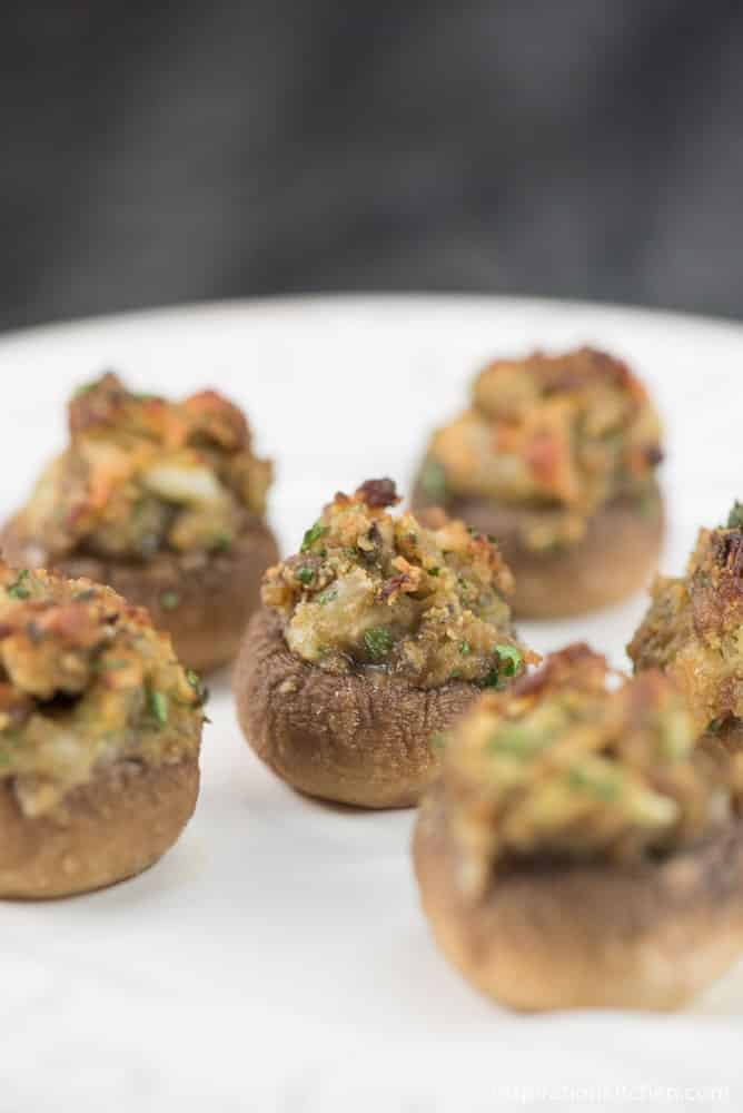 Spicy Sausage Stuffed Mushrooms | Inspiration Kitchen