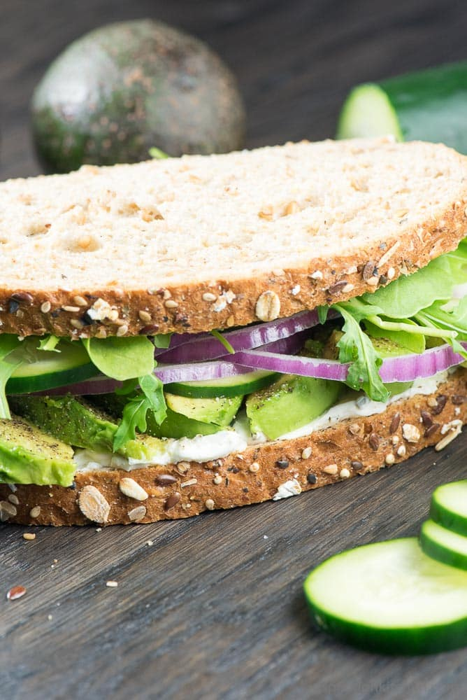 Avocado Cream Cheese Sandwich - Inspiration Kitchen