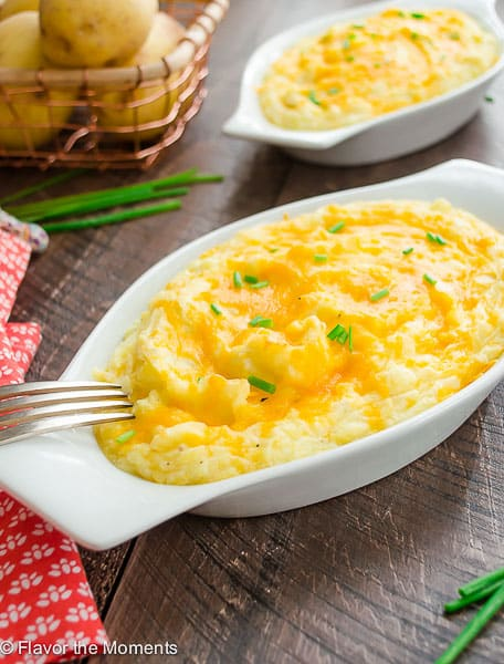 Cheesy Rosemary Twice Baked Mashed Potatoes - Flavor The Moments