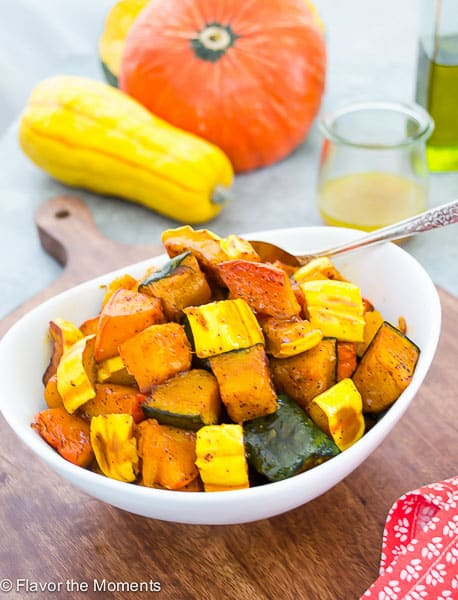Chili Maple Roasted Winter Squash - Flavor The Moments