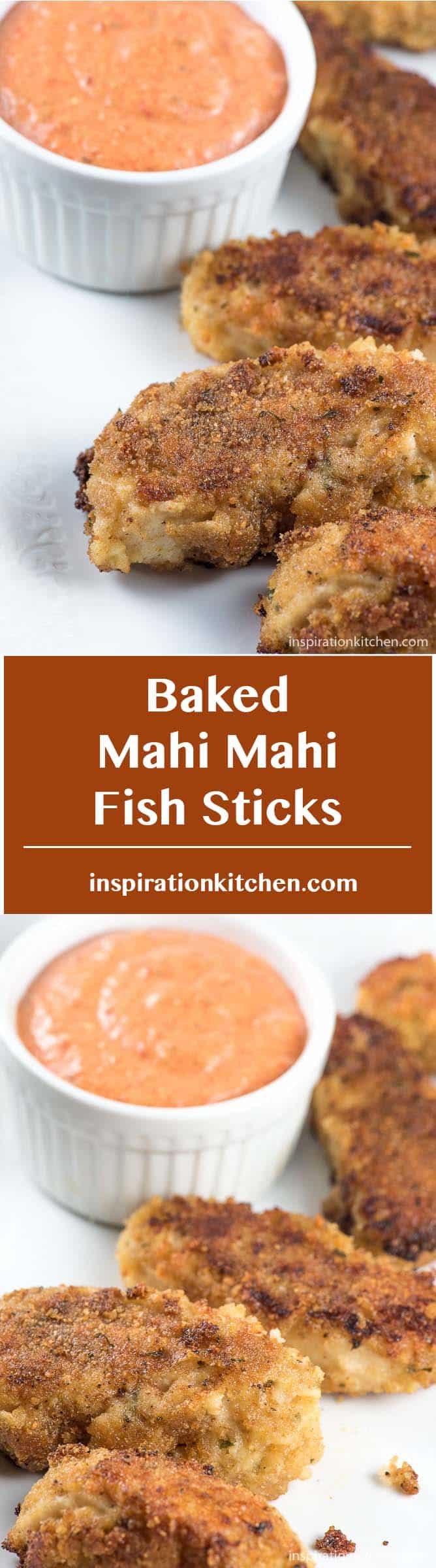 Baked Mahi Mahi Fish Sticks - inspirationktichen.com