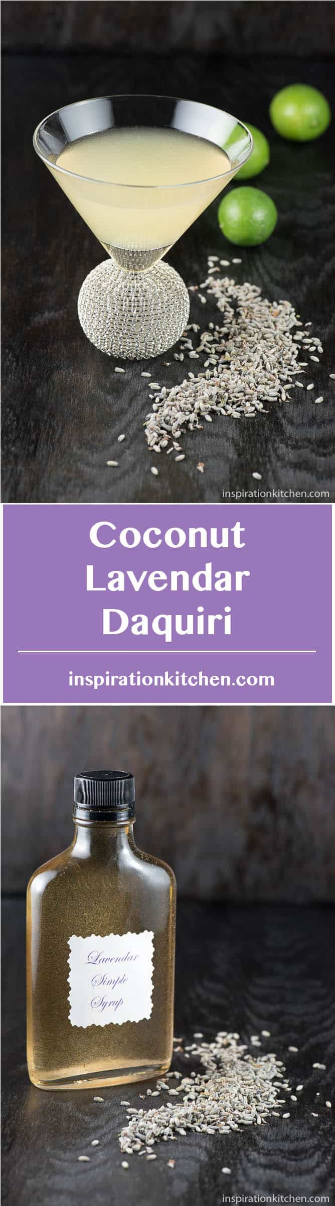 Coconut Lavendar Daquiri - inspirationkitchen.com