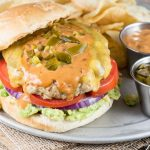Jalapeno Chipotle Cheddar Chicken Burger - Inspiration Kitchen