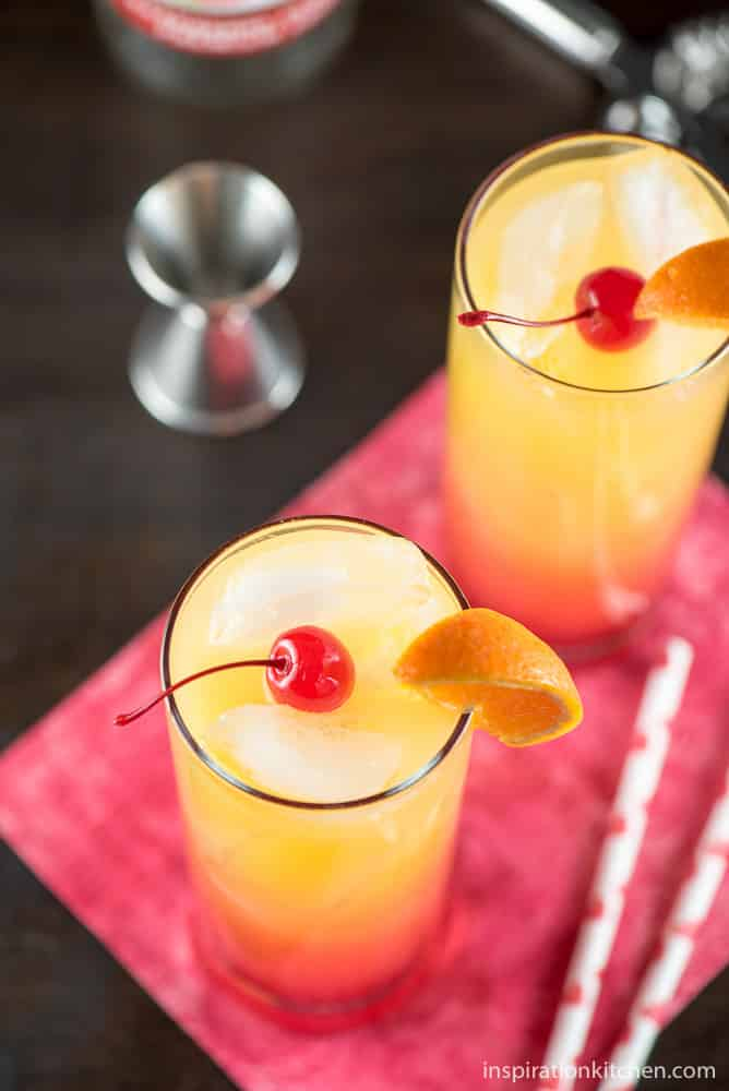 Desert Sunrise Cocktail - inspirationkitchen.com