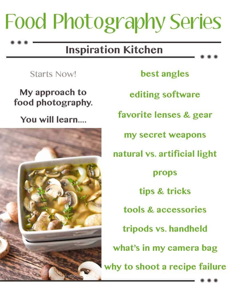 Free Food Photography How To - {Series} - Starts Now - inspirationkitchen.com