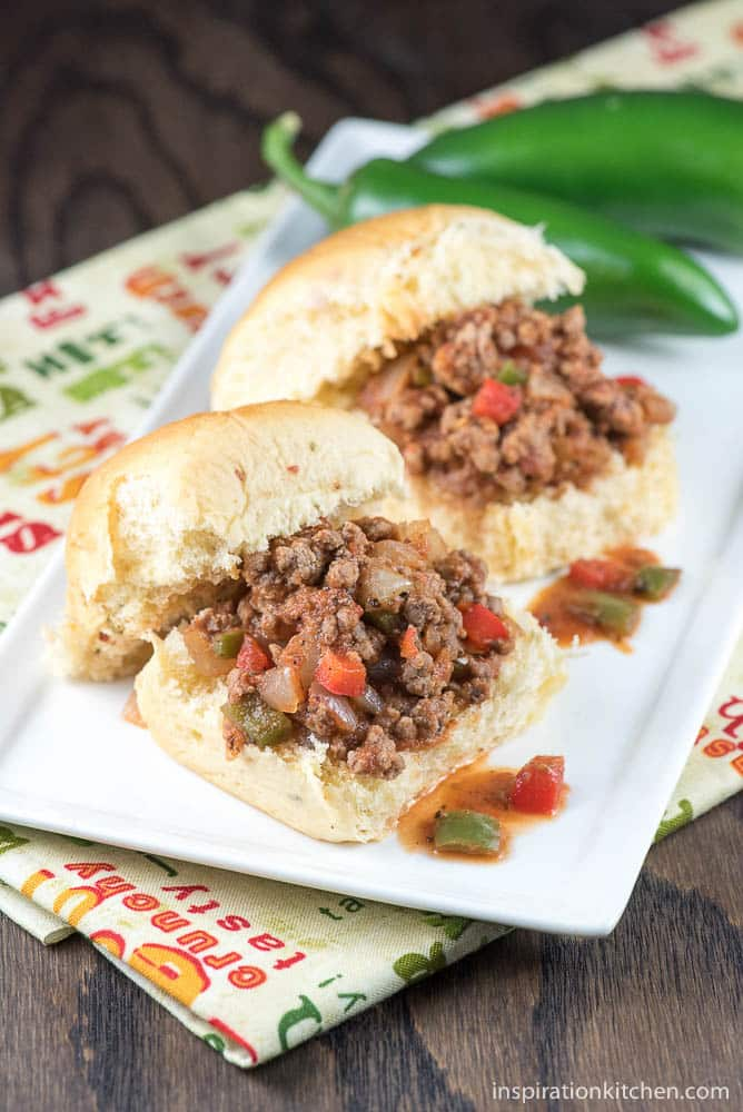 Jalapeno Sloppy Joe Sliders - inspirationkitchen.com