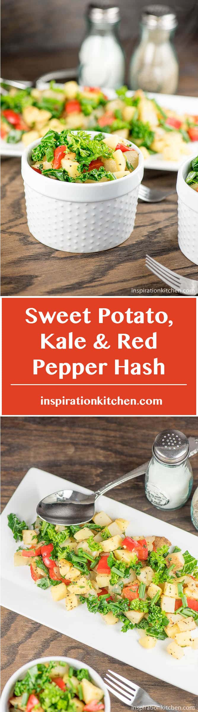 Sweet Potato, Kale & Red Pepper Hash - inspirationkitchen.com