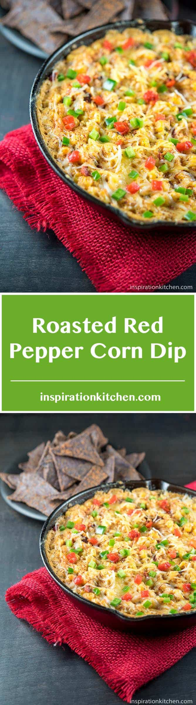 Roasted Red Pepper Corn Dip - inspirationkitchen.com