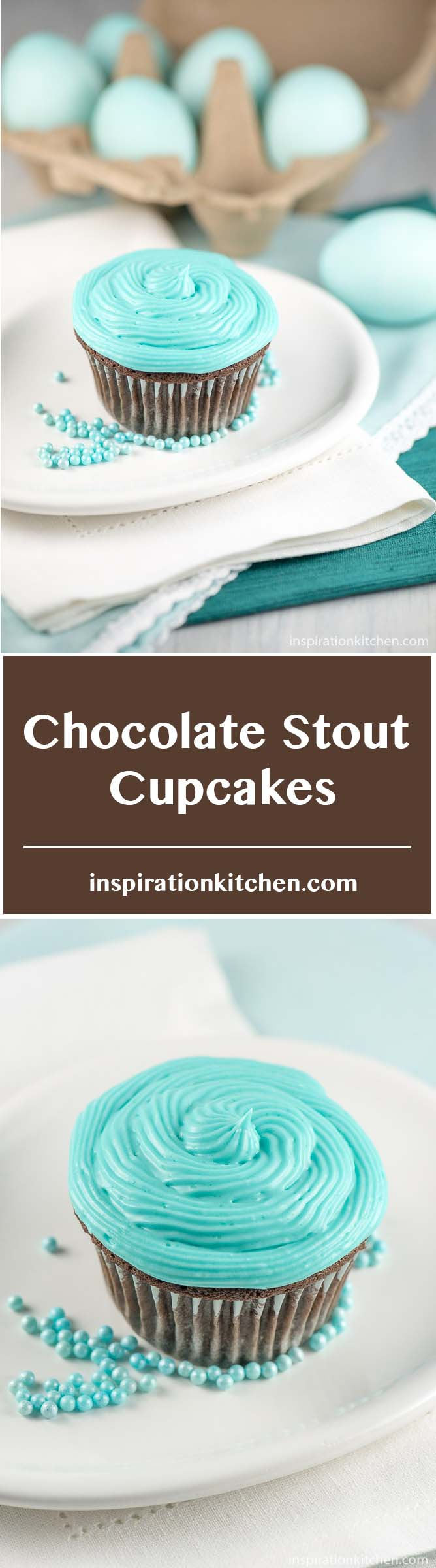 Chocolate Stout Cupcakes - inspirationkitchen.com