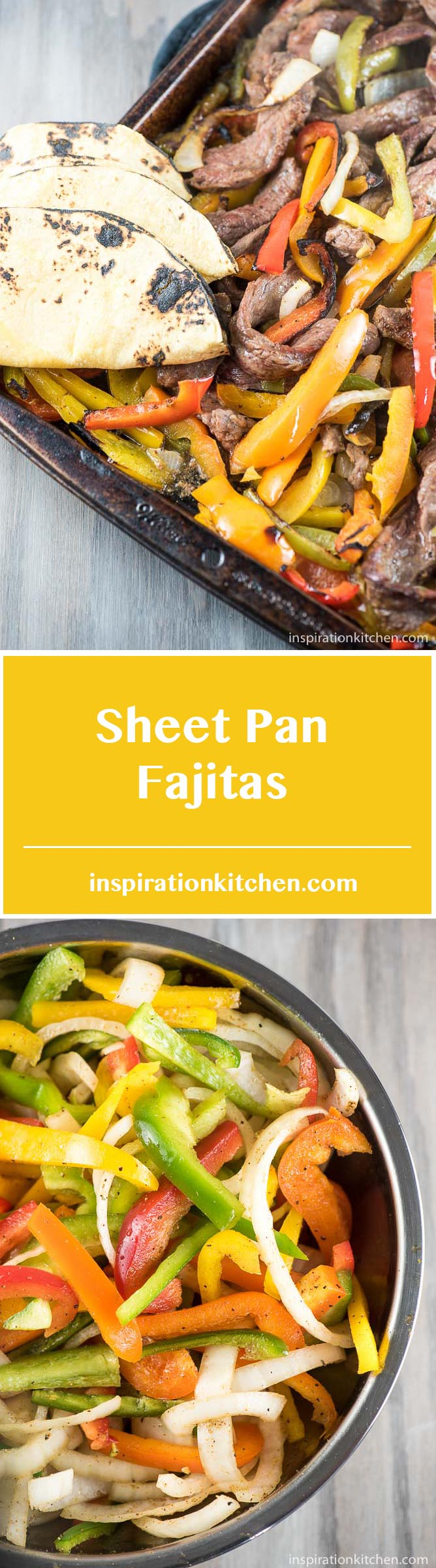 Sheet Pan Fajitas - inspirationkitchen.com