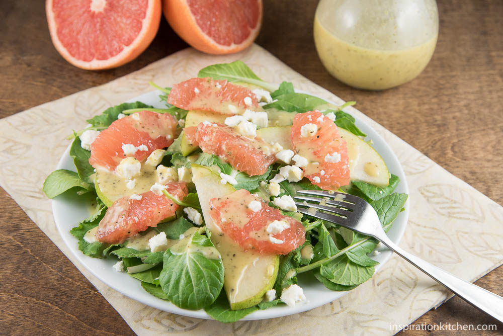 Grapefruit Salad With Champagne Viniagrette - inspirationkitchen.com